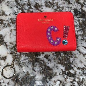 kate spade C mini wallet